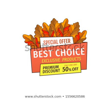 Stock photo: Best Choice Promotion Discount on Thanksgiving Day