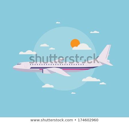 Vacances d'été modernes design style illustration blanche Photo stock © Decorwithme