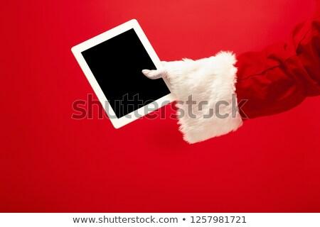 christmas · Święty · mikołaj · ręce · odizolowany · biały - zdjęcia stock © dolgachov