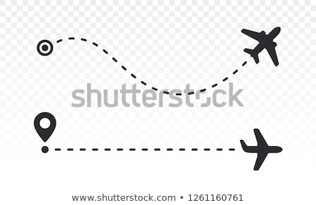 Airplanes takeoff in the sky with trace - aviation concept Stock photo © Winner