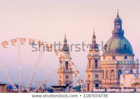 Rooftops and famous landmarks of Budapest Stock photo © xbrchx