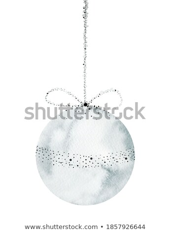 watercolor white christmas ball isolated on a white background stock photo © natalia_1947