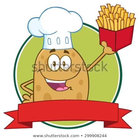 Chef papa círculo banner aislado Foto stock © hittoon