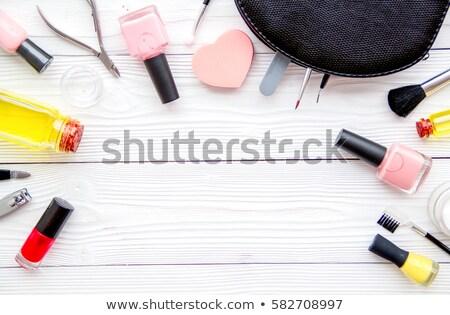 Unha polonês garrafas manicure pedicure coleção beleza Foto stock © Anneleven