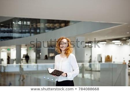 üzlet · portré · üzletasszony · fehér · blúz · fekete · szoknya - stock fotó © ElenaBatkova