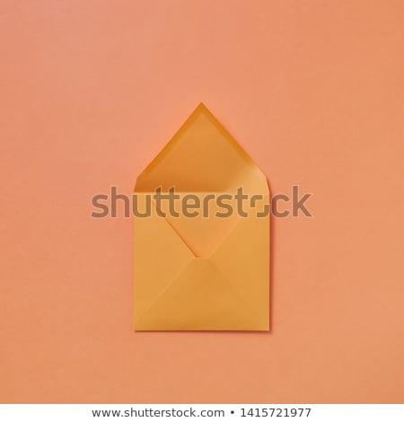 Kézzel készített vázlat boríték barack szín felfelé Stock fotó © artjazz
