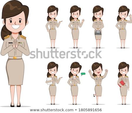 набор тайский характер иллюстрация женщину девушки Сток-фото © bluering