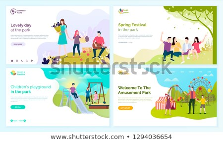 aile · doğum · günü · partisi · park · örnek · parti · çocuk - stok fotoğraf © robuart
