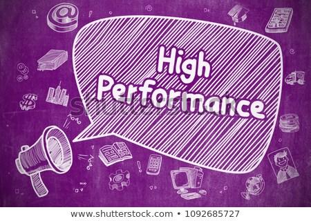 Productivity On Speech Bubble Doodle Illustration On Chalkboard Foto stock © Tashatuvango