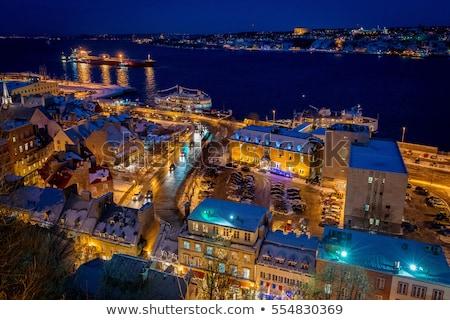 Quebec · cidade · ponte · Canadá · pôr · do · sol · tempo - foto stock © lopolo