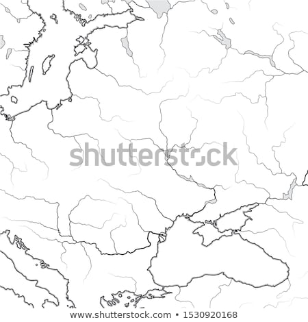Map of The SLAVIC & BALTIC Lands: Ukraine, Lithuania, Poland, Czechia, Croatia, Romania, Hungary.  Stock photo © Glasaigh