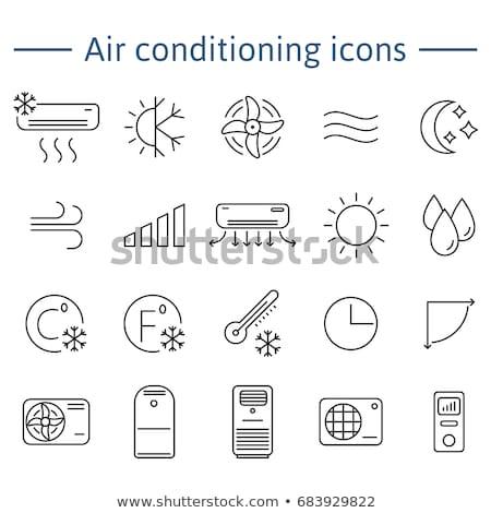 Klimaat schoonmaken vector dun lijn icon Stockfoto © pikepicture