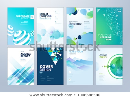 Set of brochure, annual report, flyer design templates. Vector illustrations for business presentati Stock photo © makyzz