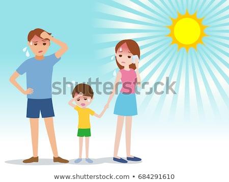 Vară căldură tată ilustrare soare fierbinte Imagine de stoc © Blue_daemon