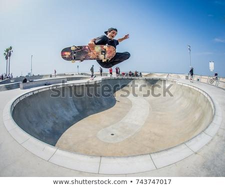 Gördeszkás szabadtér városi görkorcsolyázó park vektor Stock fotó © robuart