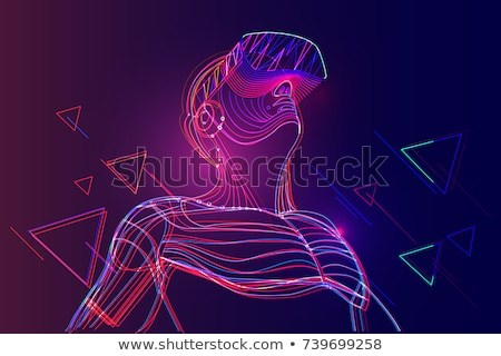 Virtual Reality Entertainment Vector Illustration Stock photo © robuart