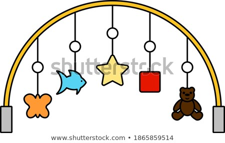 Baby Arc With Hanged Toys Icon Stock photo © angelp