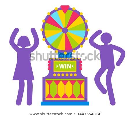 シルエット 男 女性 ベクトル 紫色 ストックフォト © robuart