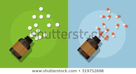 Pills Vector Illustration In Flat Style Design Stock photo © robuart