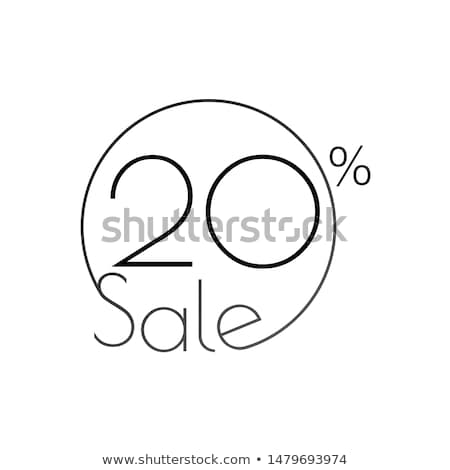 Discount offer price linear sticker or label, symbol for advertising campaign in retail, sale promo  stock photo © kyryloff