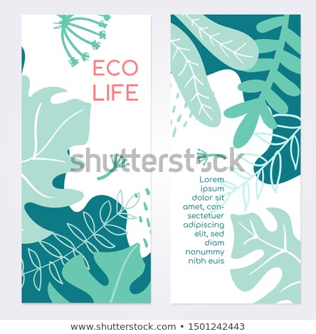 Eco life - set of modern abstract vertical banners Stock photo © Decorwithme