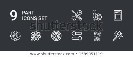 nine gears symbol icons set Stock photo © SArts