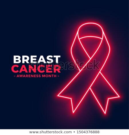乳癌 認知度 月 ポスター ネオン スタイル ストックフォト © SArts