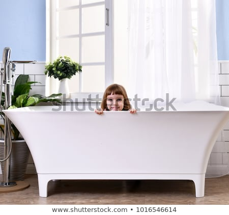 Chłopca cute łazienka baby twarz Zdjęcia stock © Lopolo