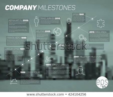 Foto d'archivio: Vettore · infografica · società · milestones · timeline · diagonale