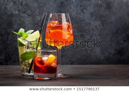 Stock photo: Three cocktail glasses