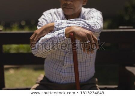 Zamyślony starszy człowiek ręce Zdjęcia stock © wavebreak_media