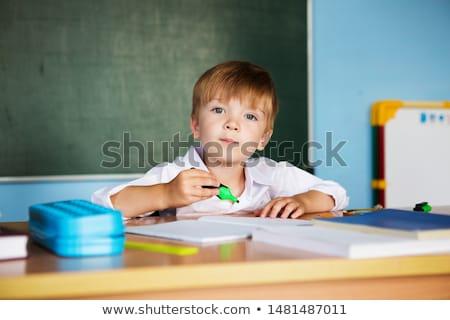 student · jongen · boek · schrijven · notebook · home - stockfoto © dolgachov