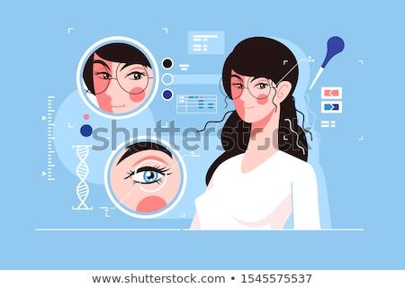 人間 · 眼 · DNA鑑定を · 解剖 · 青 · 目 - ストックフォト © jossdiim