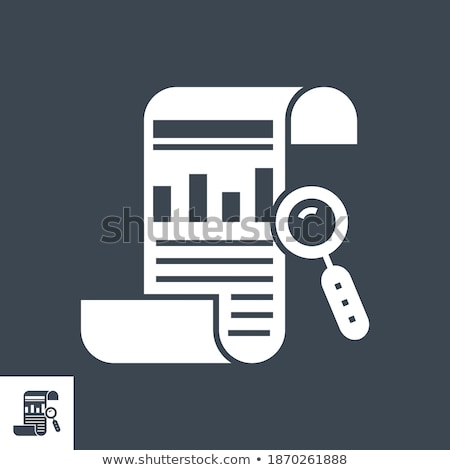 financial report related vector glyph icon stock photo © smoki