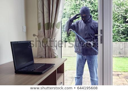 вора · домой · стекла · двери · человека · безопасности - Сток-фото © highwaystarz