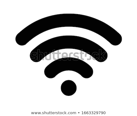 Smartphone and Laptop Wi-Fi Connection Icon Vector Outline Illustration Stock photo © pikepicture