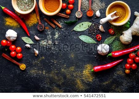 ázsiai konyha hozzávalók különböző fából készült forró fűszer Stock fotó © Pheby