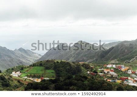 Small settlements between the mountain peaks on the Spanish island of Tenerife Stock photo © ruslanshramko