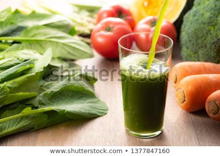 Verduras frescas jugo vidrio mesa verde arco iris Foto stock © tycoon