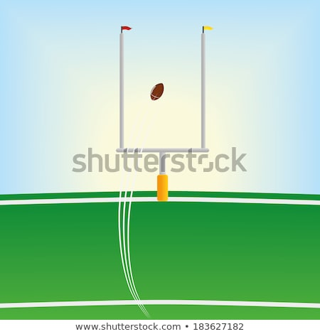 Background scene of american football field with goal Stock photo © bluering