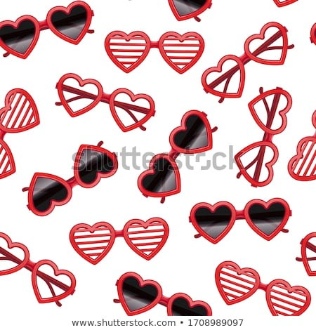 Seamless love texture on lovely red background. Repeatable love icons vector pattern on red backgrou Stock photo © ukasz_hampel