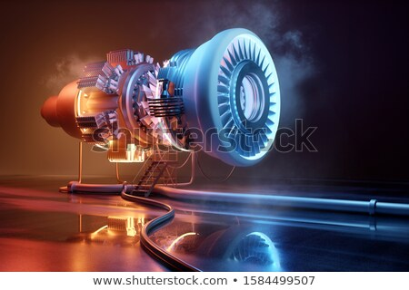Futuristic Jet Engine Construction And Engineering Stock photo © solarseven