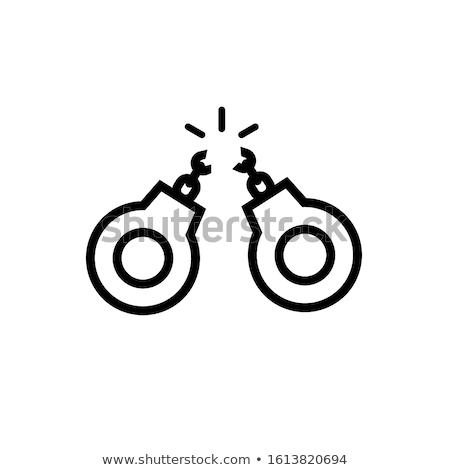 Rendőrség letartóztatás ikon skicc illusztráció vektor Stock fotó © pikepicture