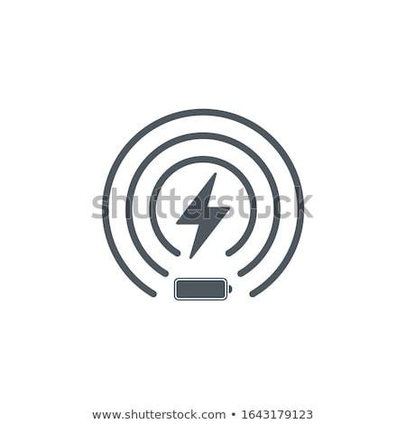Wireless batteria icona fulmini potere gestione Foto d'archivio © kyryloff