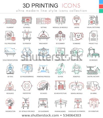 Bina malzemeler ikon vektör örnek Stok fotoğraf © pikepicture