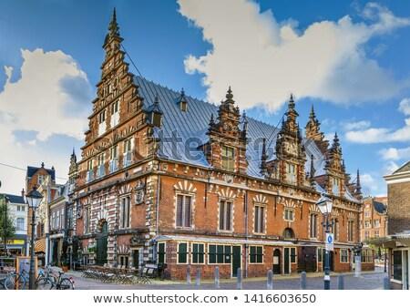 Países Bajos histórico edificio data cielo ciudad Foto stock © borisb17