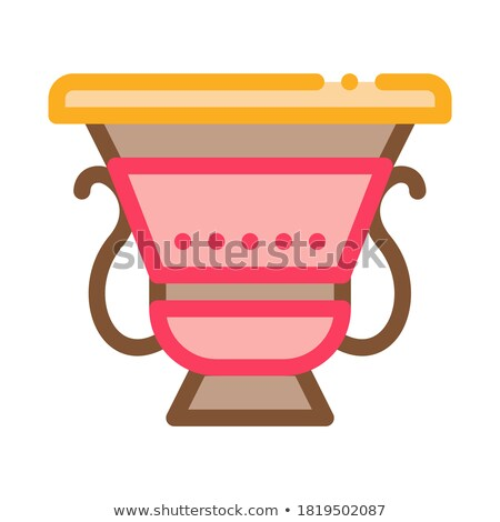 ancient greek feast bowl icon vector outline illustration Stock photo © pikepicture