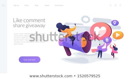 Viral contenido aterrizaje página digital comercialización Foto stock © RAStudio