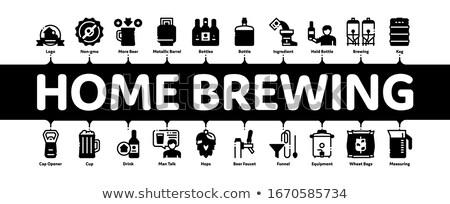 Casa cerveja mínimo bandeira vetor Foto stock © pikepicture