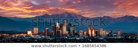 Los Angeles Skyline with Color Buildings.  Stock photo © ShustrikS